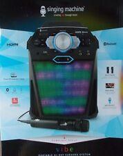 Singing Machine Bluetooth Portable Hi-Def Karaoke System w/2 Mics ~ NEW SDL366