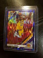 2019-20 Optic Lebron James Prizm Purple Shock Wave L.A. Lakers #60