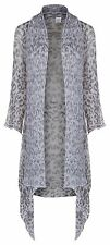 Sharanel sheer animal print knit long jacket cardigan