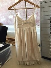 BNWT Stunning Ever-Pretty Cream Satin Style Dress From Essex Boutique Size 8 10