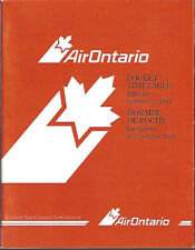 Air Ontario system timetable 10/27/91 [7072]