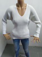 Maglione MANGO DONNA Taglia size L Maglia maglietta sweater woman bianco 5272