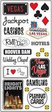 Creative Imaginations Scrapbook Stickers Las Vegas Gambling