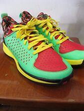 Adidas D Rose 3.0 Low sz 11 Green Zest Light Scarlet Vivid Yellow G66425