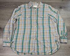 Ralph Lauren Denim & Supply Plaid Long Sleeve Button Down Shirt Size Medium