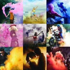 6 Multi-Colors Smoke Effect Cake Bomb Shows Party Stage Photography Aiding Toys