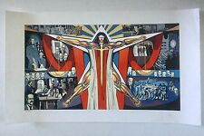 Augusto Marin, Lady Justice Serigraph, Mural Colegio De Abogados Puerto Rico Art