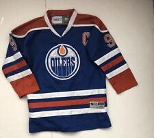 Oilers Gretzky CCM VTG HOCKEY #99 Official Lic. Jersey L/XL NHL Reebok VTG NEW