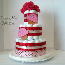 Baby Shower Cup Cake Diaper Cake For That Special Baby Girl A Great Center Piece