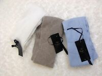 Unisex Soft Cashmere Luxury Scarf in Light Blue Ivory or Brown