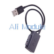 USB 2.0 to 7+6 13Pin SATA Slimline Laptop CD DVD Rom Drive Adapter Black Cable
