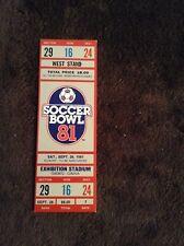NASL Soccer Bowl 1981 Full Ticket -Very Rare -