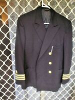 000 AMERICAN NAVY COAT/JACKET WITH STRIPES AND 5 BUTTONS SIZE 40 R SEE PICS
