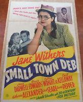 Small Town Deb Original MoviePoster, Folded, 1 Sheet, Bruce Edwards, Searl, 1941