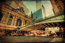 NEW YORK CITY ART PRINT- Chrysler Over Grand Central by Eric Wood 11x14 Poster