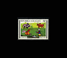 Malagasy, Sc #463, MNH, 1971, UNICEF, Childen playing, Cattle, A5FDD