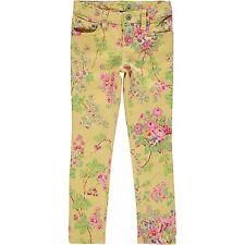Ralph Lauren Baby Girl Jeans Denim Trousers Yellow Floral Designer 24 Months