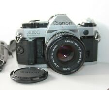 Canon AE-1 Program 35mm SLR FD Film Camera & 50mm Lens Kit.Tested.Free Warranty.