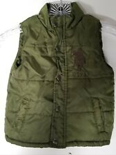 VINTAGE USPA POLO TODDLER GREEN PUFFER VEST 2T 2 YEARS OLD TODDLER VEST