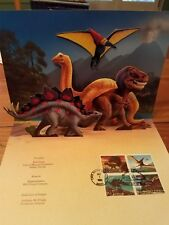 Dinosaur Stamps First Day of Issue Ceremony Program & First Day Cover (envelope)