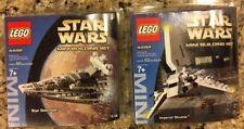 Star Wars Lego 4492 & 4494 Star Destroyer Imperial Shuttle Mini Building SEALED