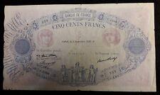 500 Francs BLEU et ROSE 3 septembre 1936 - Type 1888