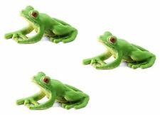 Miniature Dollhouse Fairy Garden Set of 3 Tiny Frogs - Buy 3 Save $5