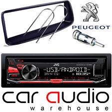 PEUGEOT 206 JVC CD MP3 USB AUX IN Display Rosso Auto Stereo Lettore & kit di montaggio