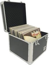 Vinyl Record Storage Box Case Aluminum For Music Albums Holds 75 Records Classic