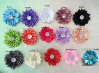 $1 POST* DIY mini Satin Daisy Flower Embellishment baby Headband Handmade Craft