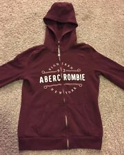 Abercrombie & Fitch New York Maroon Hoodie Zipper Hoodie Size Small