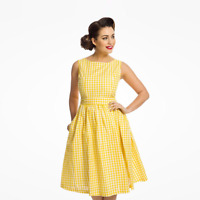 Lindy Bop 'Audrey' BNWT Vintage Midi Swing Dress Flared - Plus Size 20 and 22