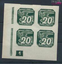 Bohemen en Moravië 47 met Nummerplaat postfris MNH 1939 Krant namen (9310307