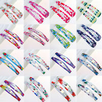 Lots 10Pcs Snap Hair Clip Hairpin Barrette Headwear Accessories For Baby Girls