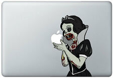 Zombie Snow White Holding Apple MacBook Pro / Air 17 Inch Vinyl Decal Sticker