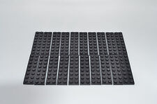 LEGO 20 x piastra di base 2x8 NERO BLACK BASIC Plate 3034 303426
