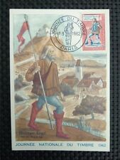 FRANCE MK 1962 JOURNEE TIMBRE MAXIMUMKARTE CARTE MAXIMUM CARD MC CM c3875