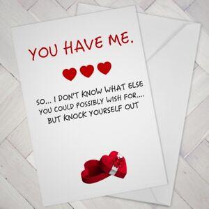 Funny BIRTHDAY CARD Husband Wife Partner male female Fiance Fiancee man woman