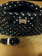 Cath Kidston Holdall Navy Spot Weekend Travel Hand Luggage Bag