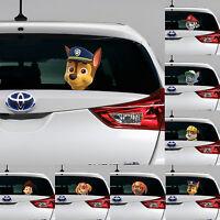 PAW PATROL Peeking on Board Kids Boys Bedroom Decal Wall Car Art Sticker Gift