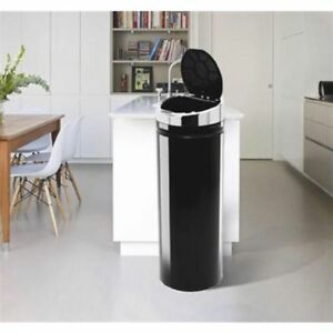 Quality Automatic Kitchen Waste Bin Black Dustbin Trash Can W Sensor & Lid 50L