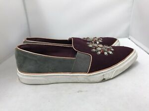 Ted Baker London Slip On Shoes UK 5 Beaded Detail Purple Womens Accessories