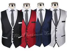 Button Polyester Casual Waistcoats for Men