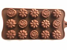 Assorted Flower Chocolate Silicone Mold Cupcake Design Baking Candy Cake Fondant