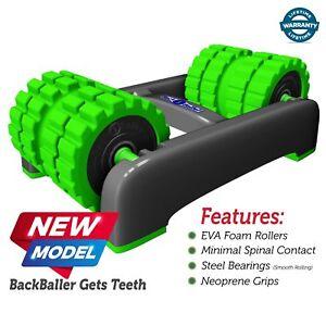 BackBaller - Dual Mounted Foam Roller - Trigger Point Back Muscle Massage