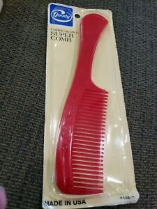 """Vintage Retro NOS 1982 GOODY Super Comb RED sealed NEW large 8 1/2"""""""