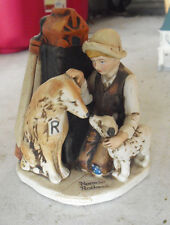 Vintage 1974 Dave Grossman Porcelain Norman Rockwell Friends in Need Figurine