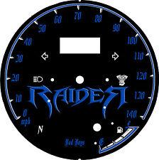 yamaha Star Raider 1900 Custom Speedo Face Plate  KM/H  & MPH Raider 1