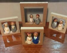 Personalised  Bride and Groom Cake Topper/ Wedding Favour