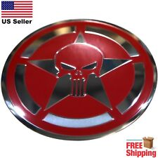 Dome Shape 3d Metal Captain American Punisher Skull Shield Sticker Decal 22